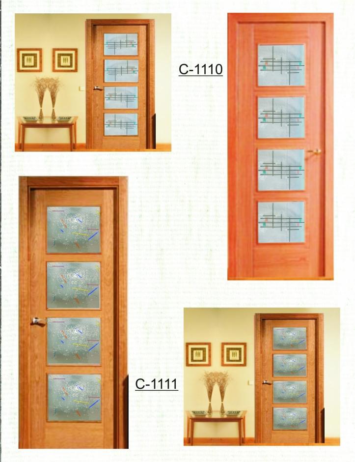 Mod vidrio para puertas cuarterones castevidrio - Cristales decorativos para puertas de interior ...